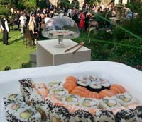 Sushi at weddings